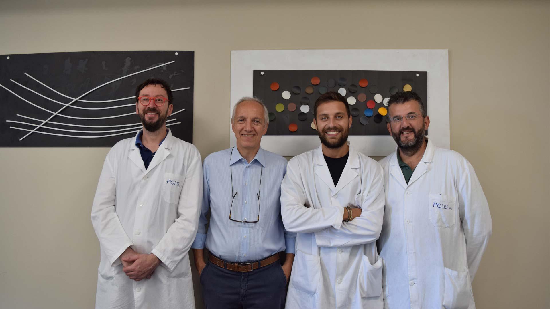 Il team di laboratorio